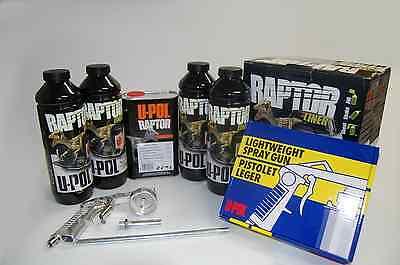 U-POL Raptor Black Truck Bed Liner Kit w/ Applicator Gun 0820 FREE SHIPPING!
