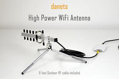 2200mW NextG USB-Yagi TurboTenna WiFi Antenna with 6FT OUTDOOR RF CABLE