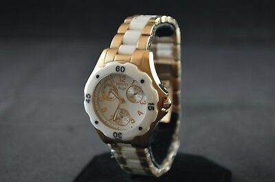 Invicta Ladies Angel Rose Gold Toned and White Chronograph Watch 1657