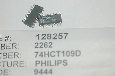 Philips 74hct109d Flip Flop Jk-type Pos-edge 2element 16-pin Smd New Lot Qty-10