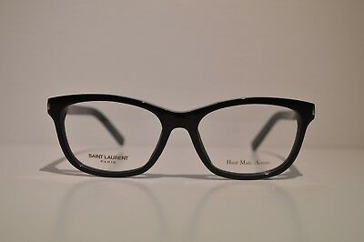 New Authentic Women's Yves Saint Laurent Black Eyeglasses: SL 12 807