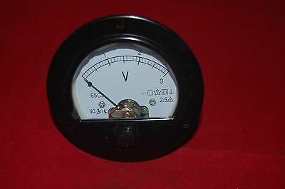 Dc 0-3v Round Analog Voltmeter Voltage Panel Meter Dia.90mm Direct Connect