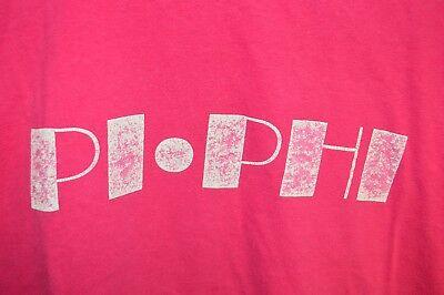VINTAGE 1980's PI PHI T-Shirt Mens XL (SLIM) Greek Life Hot Pink Relic Rare](Hot Greek Men)