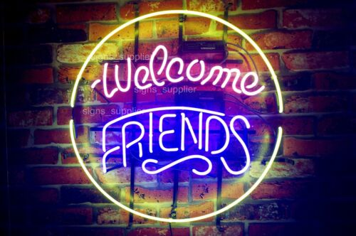 New Welcome Friends  Beer Bar Gift Pub Neon Light Sign 17