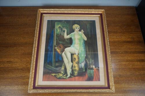 Antique Art Deco Advertising Print Live Stock Bridgewater Michigan Framed Print