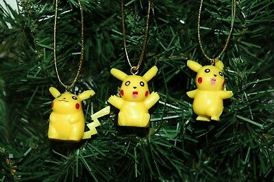 Set of 3 Pokemon Pikachu Christmas Ornaments (Set 2)](Pokemon Ornaments)