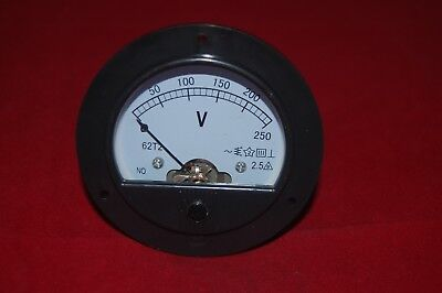 Ac 0-250v Round Analog Voltmeter Voltage Panel Meter Dia. 90mm Directly Connect
