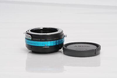 Fotodiox Nikon F/G Lens to Sony NEX E-Mount Camera Adapter w/Declicked Switc#430
