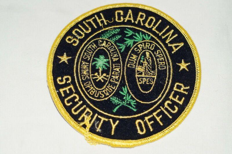 US Secutiry Officer South Carolina Police Patch