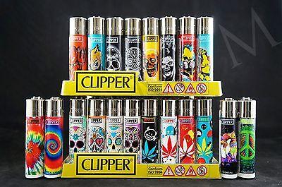 (20 pcs Brand New Refillable Full Size Clipper Lighters )