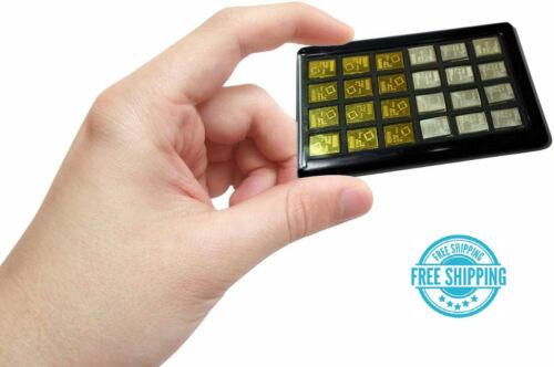 Black Element Card Gold Bullion Case for Valcambi Combibars Silver Platinum