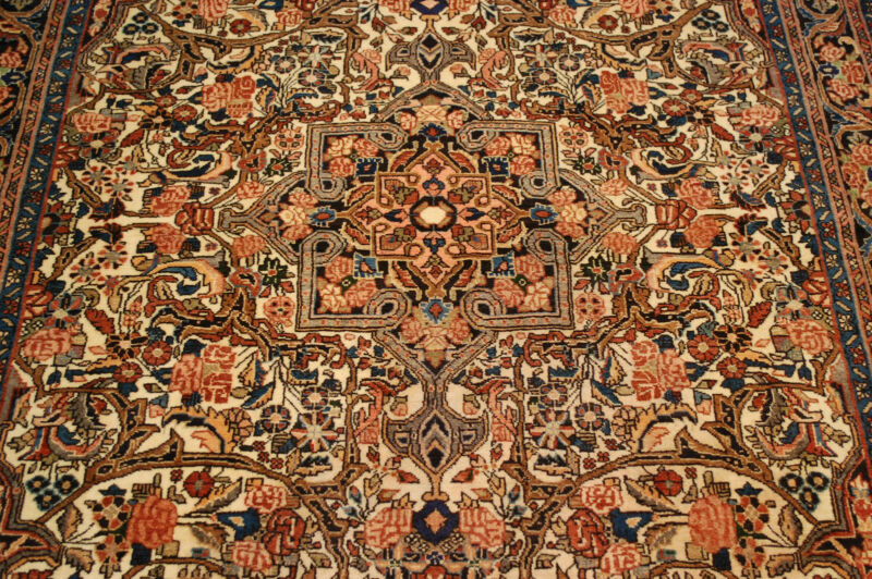 C1930s Antique Exclusive Fine Prsian Bijar Rug 4.7x6.10 Highly Detailed_beauty