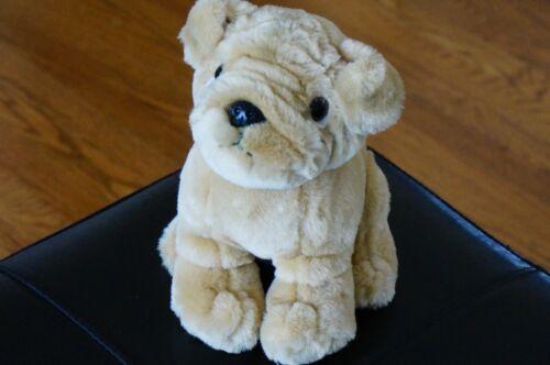 "PLUSH Toy DOG Chosun Int 8"" Puppy Shar Pei Stuffed Animal Doll Tan Brown Wrinkle"