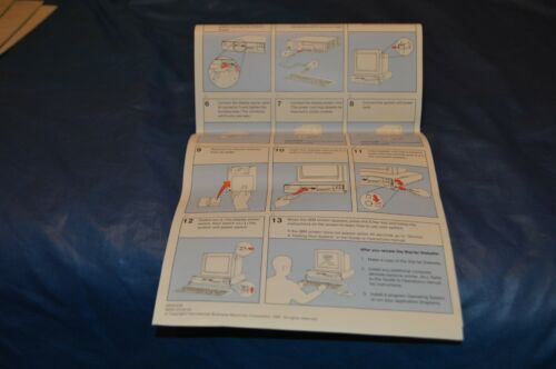 IBM PERSONAL SYSTEM/2 MODEL 30 SETUP INSTRUCTIONS SHEET 68X2239 S68X-2239-00