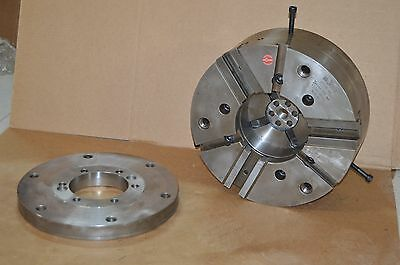 Rohm 15 500mm Power Chuck Kfd-hs 3-jaw Backplate 3 Jaw Serration 90 Iso 702-