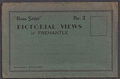 FREMANTLE, WESTERN AUSTRALIA, SOUVENIR FOLDER, 9 VIEWS FOLD OUT, c. 1920-30's