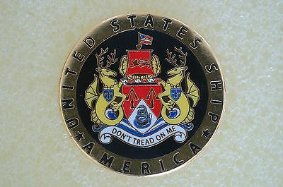 US USA USN USS America Military Hat Lapel Pin