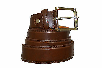 "BELT MENS JEANS BROWN  ALL SIZES 30""-60""  GENUINE LEATHER STYLISH CASUAL BELT"
