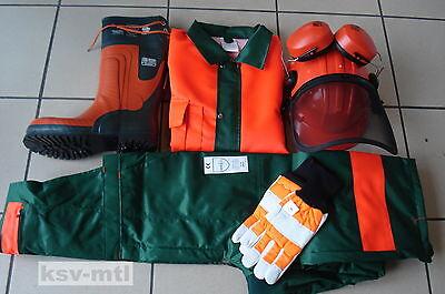 Sicherheits Set Latzhose Stiefel Helm Handschuhe Jacke 5in1 FPA,EN Norm TOP!!!