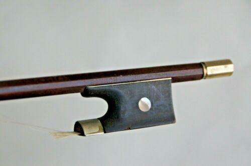 "Antique Vintage BAUSCH Violin Bow 28 /8"" L 50  Marked Round Frog смычок 小提琴弓 バ"