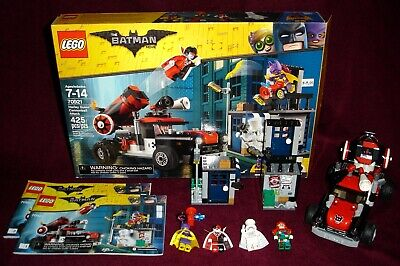 2018 LEGO THE BATMAN MOVIE 70921 HARLEY QUINN CANNONBALL ATTACK 100% COMPLETE