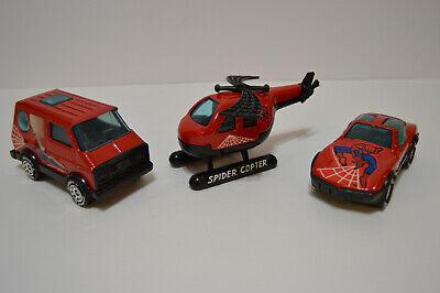 VINTAGE 1980 Buddy L Marvel SPIDER-MAN Spider Copter Spider Van Spider Car