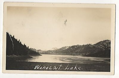 Rppc Wannacut Lake  Near Oroville Wa Washington Vintage Real Photo Postcard