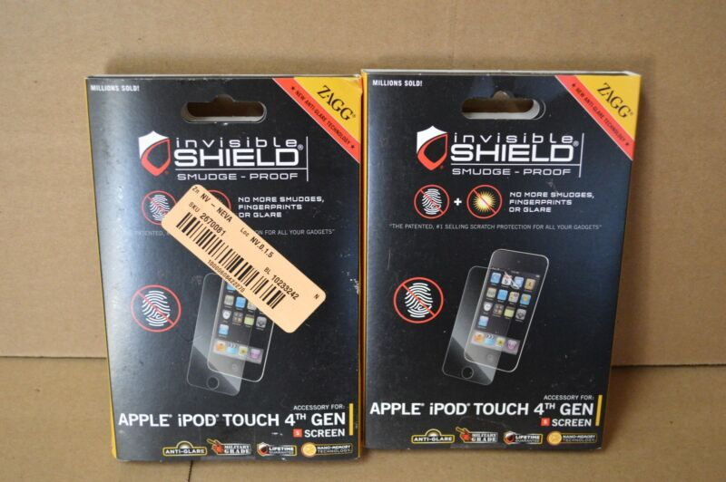 Lot of 2 Zagg Invisible Shield Screen Protector Apple iPod Touch 4th Generation