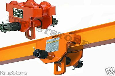 2 Ton Steel I-beam Push Beam Track Roller Trolley For Overhead Garage Hoist