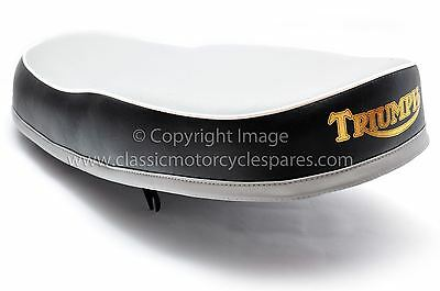 DUAL SEAT TRIUMPH T120 TR6 DUPLEX GREY TOP 82 4691 1960 62 UK MADE