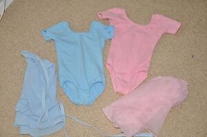 2 ballet leotards and skirts age 3-4 Pink and Blue Bilgola Pittwater Area Preview