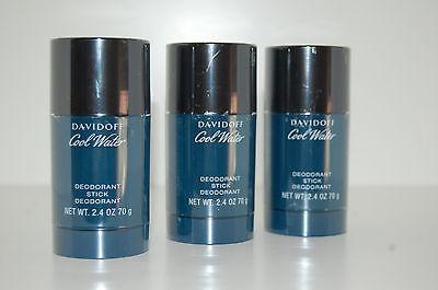 Cool Water Deodorant Stick ((15,11€/100 ml) Davidoff Cool Water Men Man 3 x 75 ml Deo Deostick Deodorant)