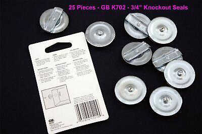 Gardner Bender - Gb Ko702  34 Knockout Seals  Lot Of 25 Pieces