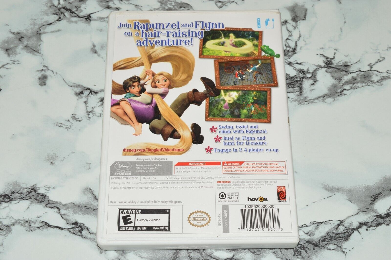 Disney - Tangled Nintendo Wii, 2010 -- Complete W/ Manual Poster - $11.18