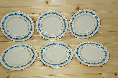 "Castleton Classic Blue (6) Bread & Butter Plates 6 1/4"""