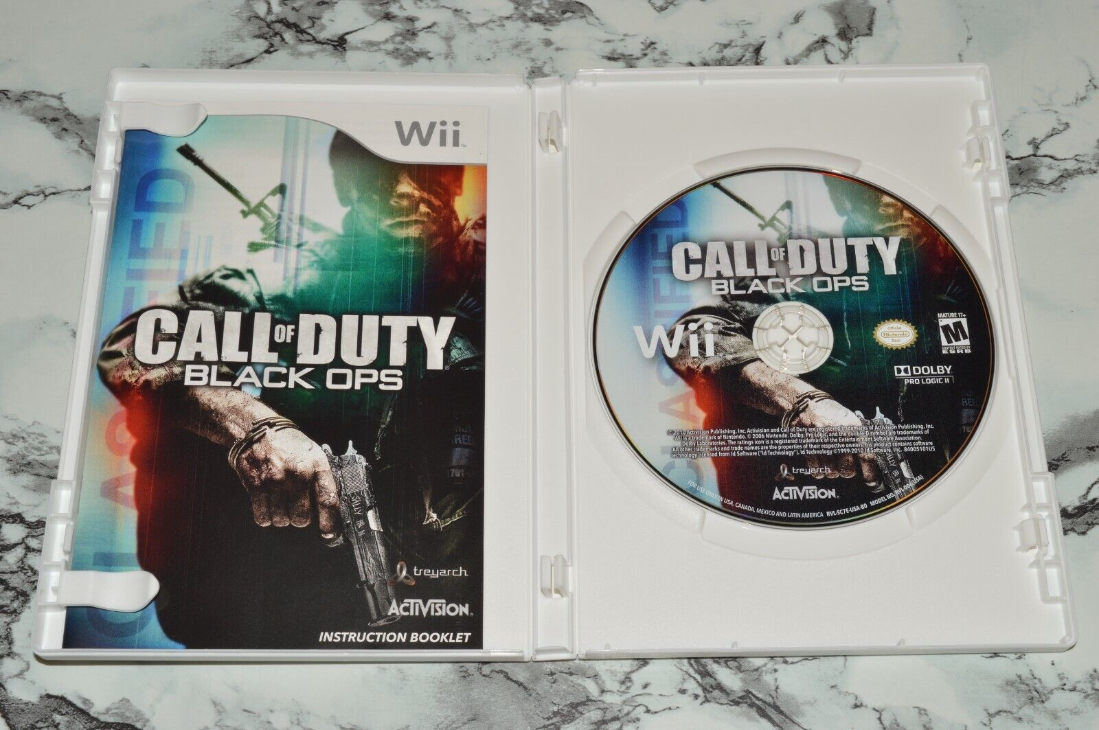 Call Of Duty COD - Black Ops Nintendo Wii, 2010 -- Complete W/ Manual - $11.18