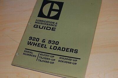 Cat Caterpillar 920 930 Wheel Loader Maintenance Lubrication Guide Owners Manual