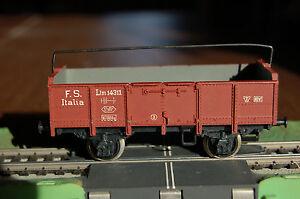RIVAROSSI-ANNI-50-CARRO-MERCI-FS-SPONDE-ALTE-TIPO-Ltm-14311-MODERNARIATO-VINTAGE