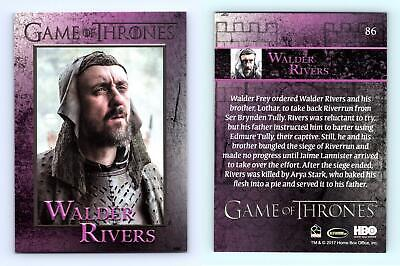 Walder Rivers #86 Game Of Thrones Season 6 Rittenhouse 2017 Trading Card