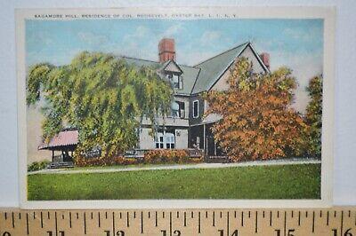 C 1925 Sagamore Hill Residence of Col Roosevelt Oyster Bay LI New York Postcard - Roosevelt Sagamore Hill