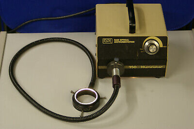 Ram Optical Fiber Optic Light Source 150 Illuminator With Fostec Ring Light
