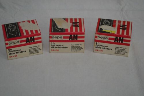 Lot of 3 boxes NOS Gepe Anti Newton Slide Binders 24 x 36 20 per box