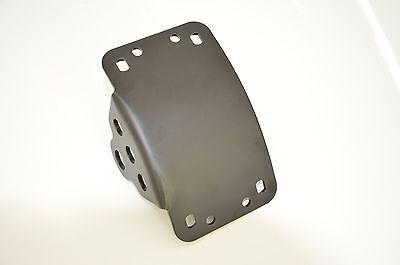 Side Mount Curved Motorcycle Number License Plate Holder - Matte Black Steel