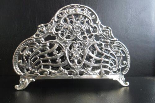 Antique 46 Gram Sterling Silver Filigree 18th Century Napkin Holder,Unique Rare