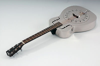 Resonator Guitar Johnson Jm-998 Seconds Metal Body without Engravings New / New