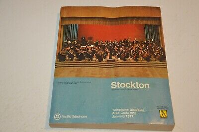 1977 Stockton,  California Pacific Telephone Directory/ Phone Book/ Yellow Pages