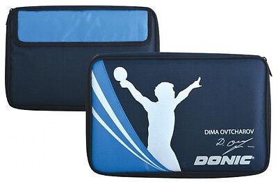 Donic Tischtennis-2er-Schlägerhülle Dima Ovtcharov - Farbe: blau/weiss