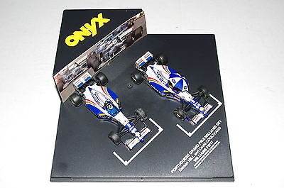 Image of 002 ONYX 1 43 F1 WILLIAMS RENAULT FW17 HILL COULTHARD PORTUGUESE GP 1st F1 WIN