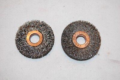 Pair Of Weiler 1-12 Crimped Wire Wheel .014 Wire 38 Arbor