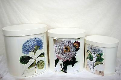 Aufbewahrungsbox Karton Nostalgisch Deckel Requisite florale Motive Box retro